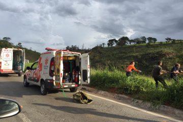 Dois acidentes na BR-381 nesta terça no trecho entre Monlevade e São Gonçalo