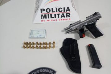 Tático Rodoviário apreende pistola calibre 380 durante operação em Itabira
