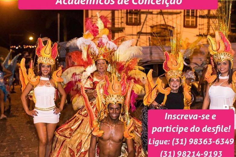 Acadêmicos de Conceição convoca participantes para desfile carnavalesco