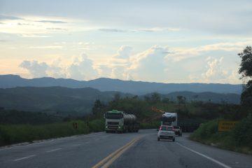 Trânsito intenso na BR-381 sentido Belo Horizonte neste sábado
