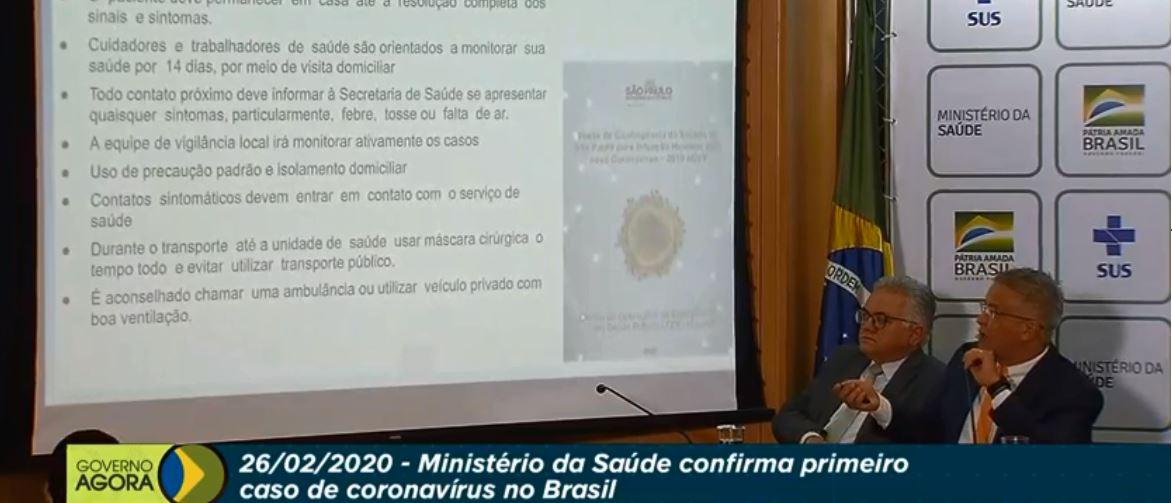 Imagem: Ministério da Saúde detalha presença do coronavírus no Brasil; veja ao vivo!
