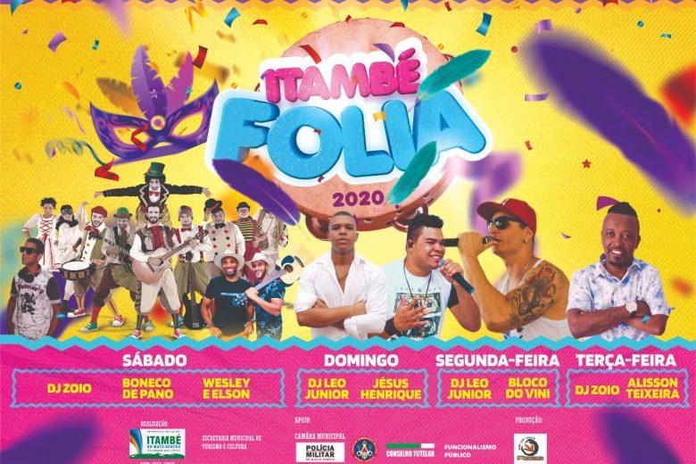 Itambé Folia convida para quatro dias de muita festa e belezas naturais