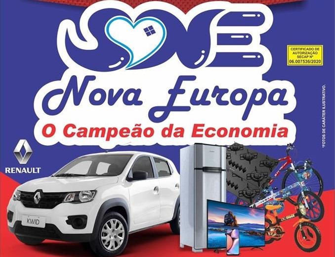 Nova Europa retribui reconhecimento dos itabiranos com sorteio de carro e outros prêmios