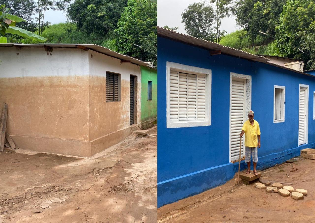Voluntários se unem e reformam casas afetadas por enchente em Nova Era