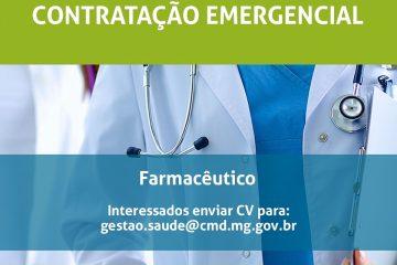 Conceição do Mato Dentro contrata farmacêutico