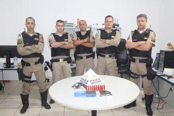 Polícia Rodoviária encontra arma e munições durante operação na MG-129