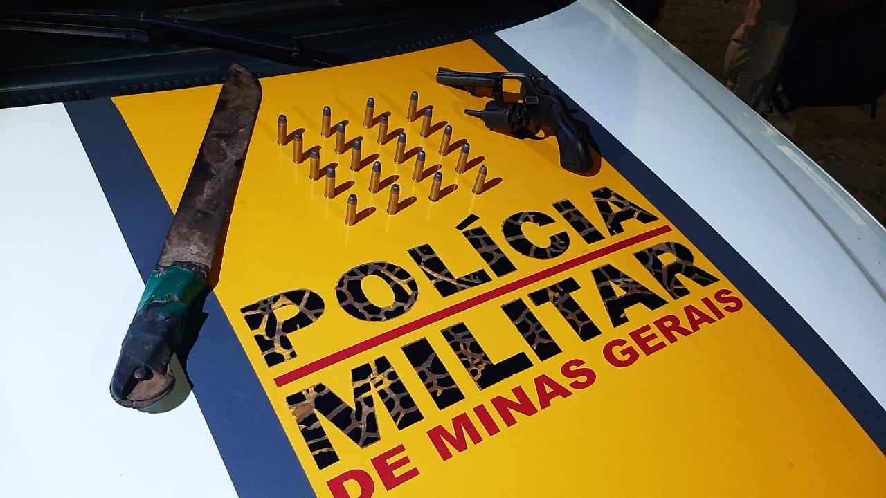 Polícia Rodoviária apreende revólver durante operação na MG-123