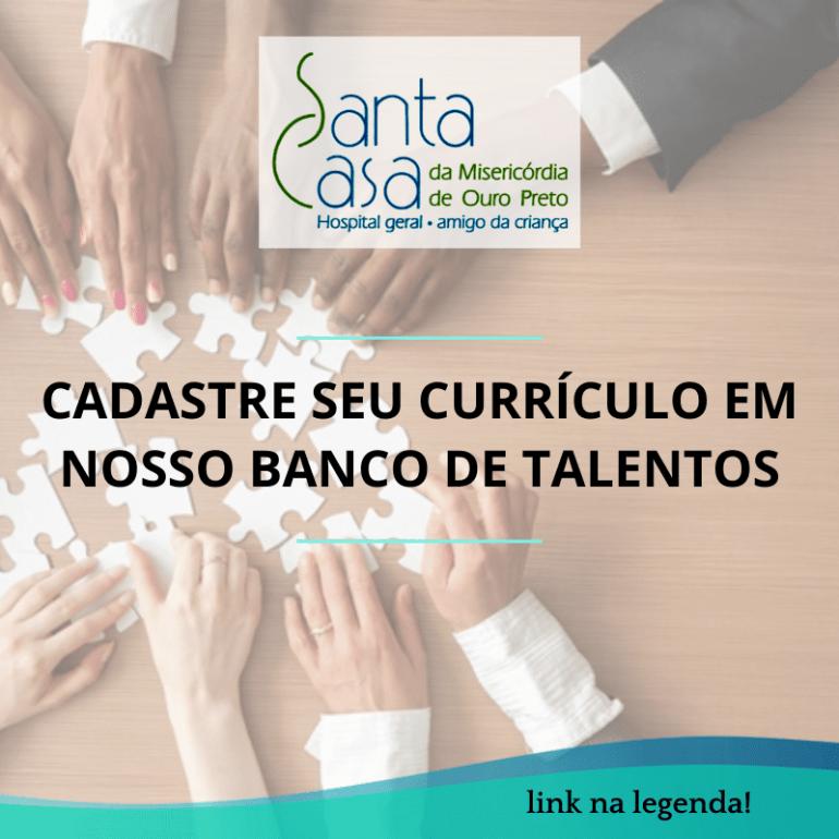 Santa Casa de Ouro Preto contrata técnico em enfermagem e auxiliar administrativo