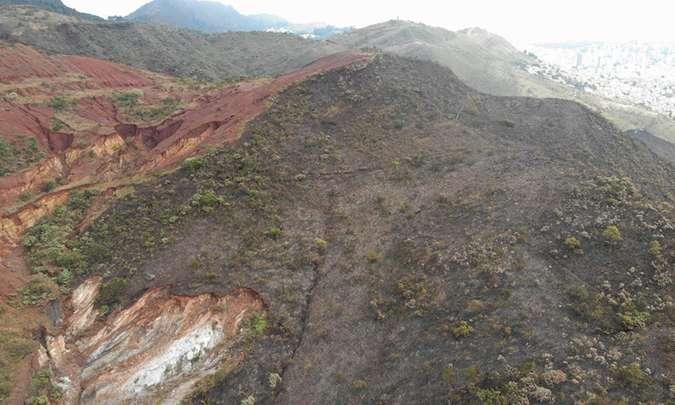 Incêndio na Serra do Curral atingiu área equivalente a 70 campos de futebol