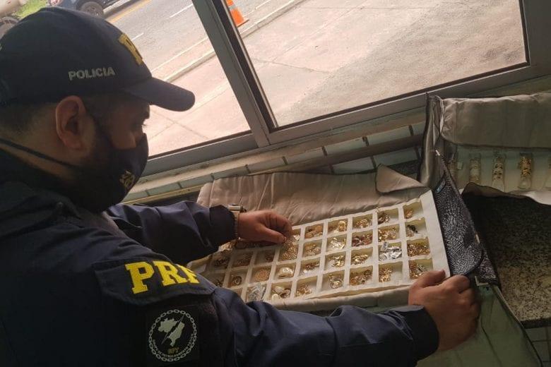 PRF apreende joias avaliadas em R$ 900 mil na BR-381