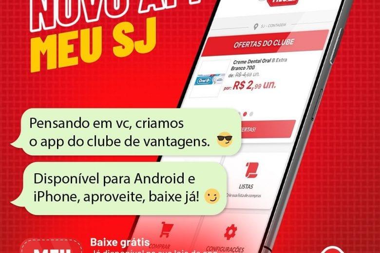 SJ Supermercados oferece Clube de Descontos gratuito e aplicativo para os clientes