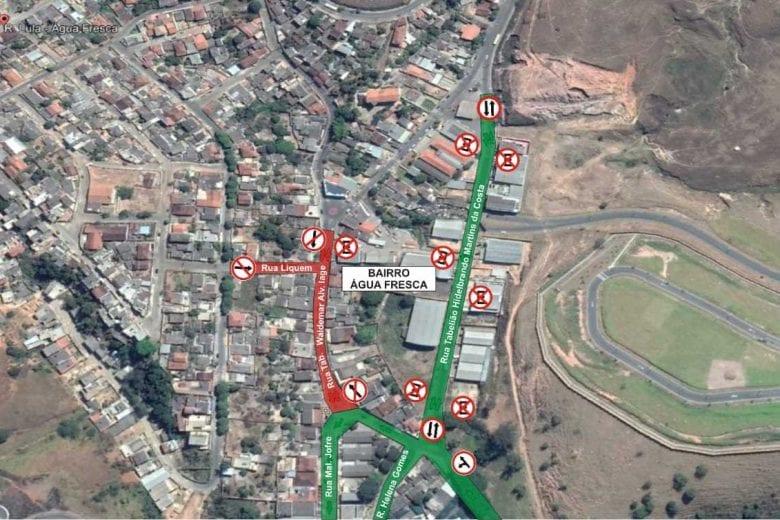 Trânsito será interditado na rua Waldemar de Alvarenga Lage