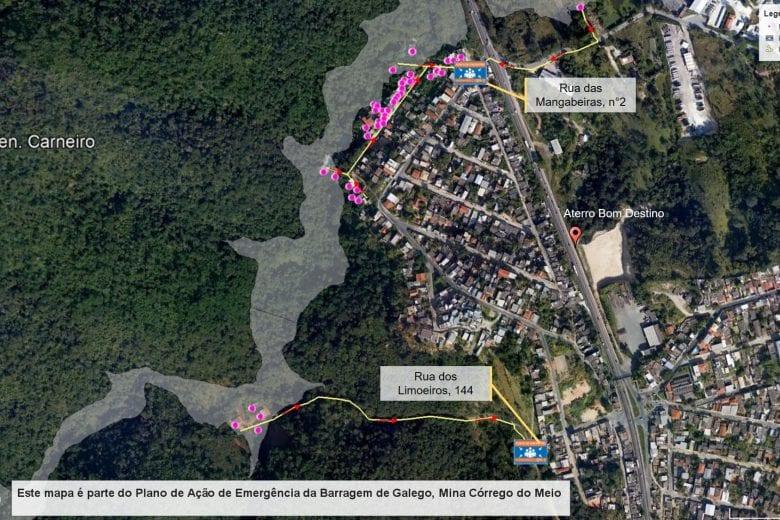 Vale fará teste em sirenes na barragem Galego em Sabará e Santa Luzia