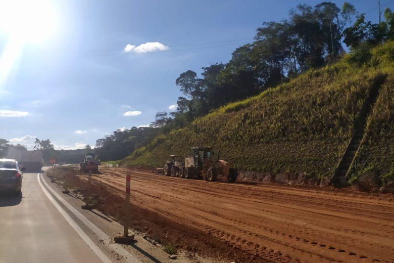 Retrabalho: trecho duplicado e já liberado da BR-381 em Barão é interditado para obra