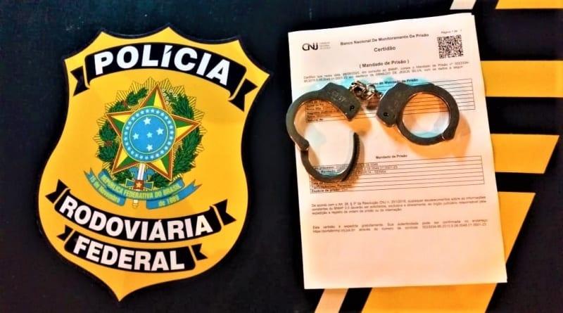 Acusado de duplo homicídio no Pará é preso pela PRF na BR-381