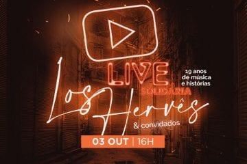 Com 19 anos de música e histórias, banda Los Hervês realiza live beneficente