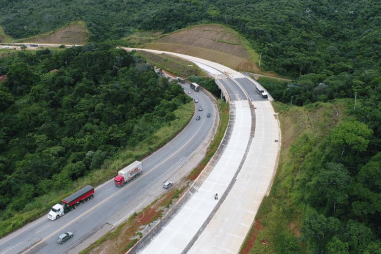 Lote 3.1 da BR-381 tem 91% de obras concluídas pelo Governo Federal