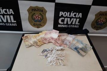 Polícia Civil prende suspeito de tráfico de drogas em Itabira