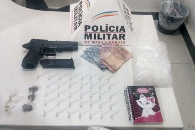 Policiais militares prendem homem com drogas em Itabira