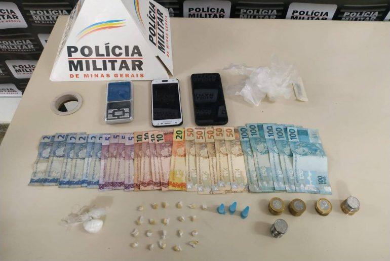 Polícia Militar prende trio por tráfico de drogas em Monlevade