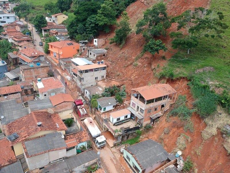 Santa Maria de Itabira tem 394 desalojados e 100 desabrigados