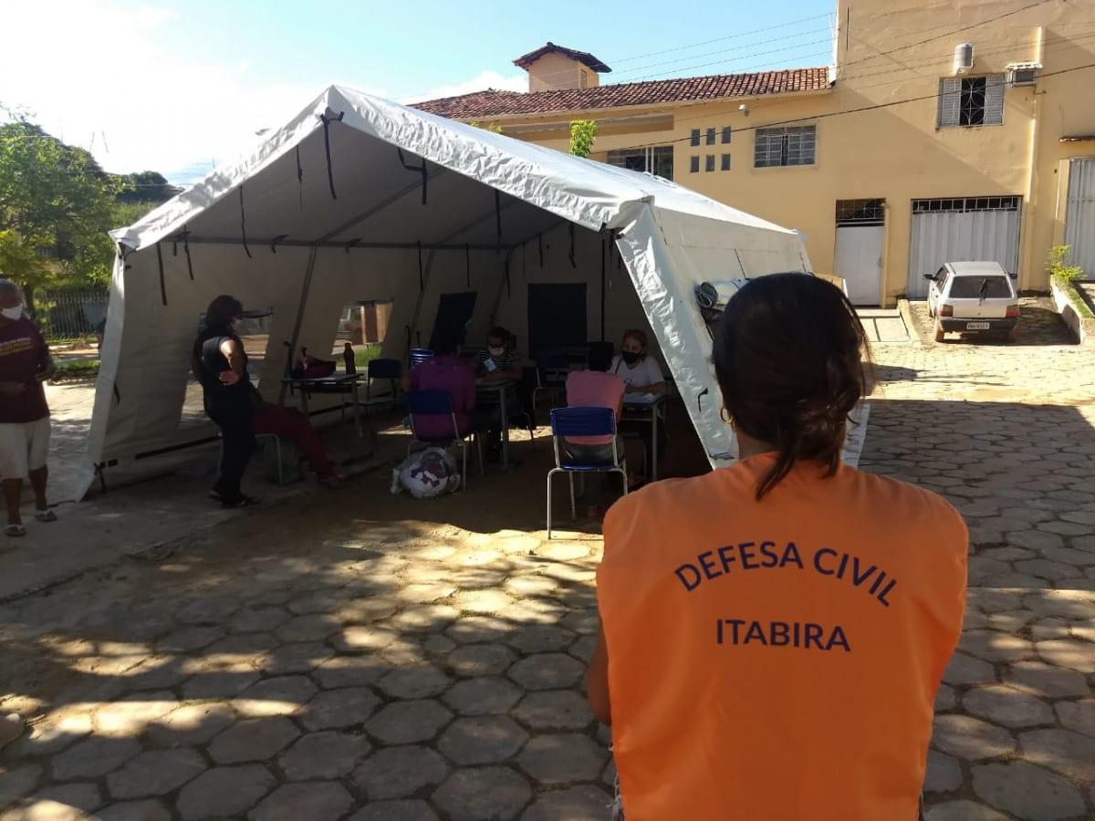 Itabira disponibiliza estrutura de apoio à moradores de Santa Maria