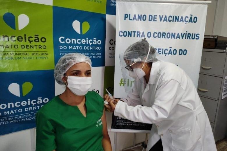 Conceição recebe mais 150 doses de vacinas contra a Covid-19