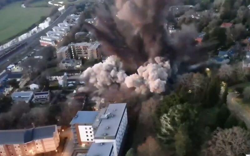 Bomba da Segunda Guerra é detonada no Reino Unido; veja o vídeo