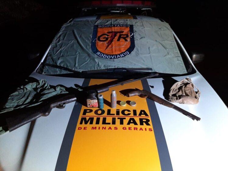 Tático Rodoviário apreende armas durante operação em Catas Altas