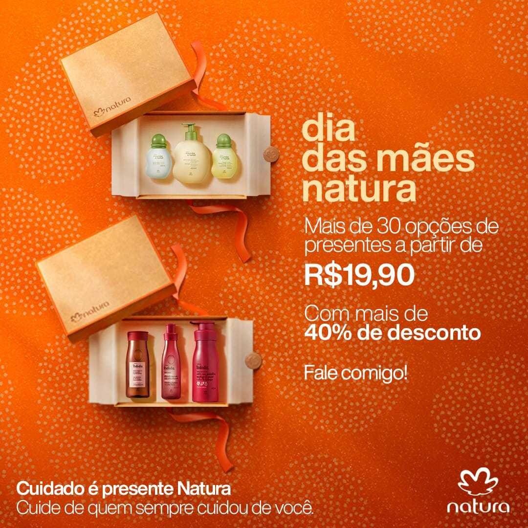 Dia das Mães: os melhores presentes, a partir de R$ 19,90 na Natura Itabira; confira opções