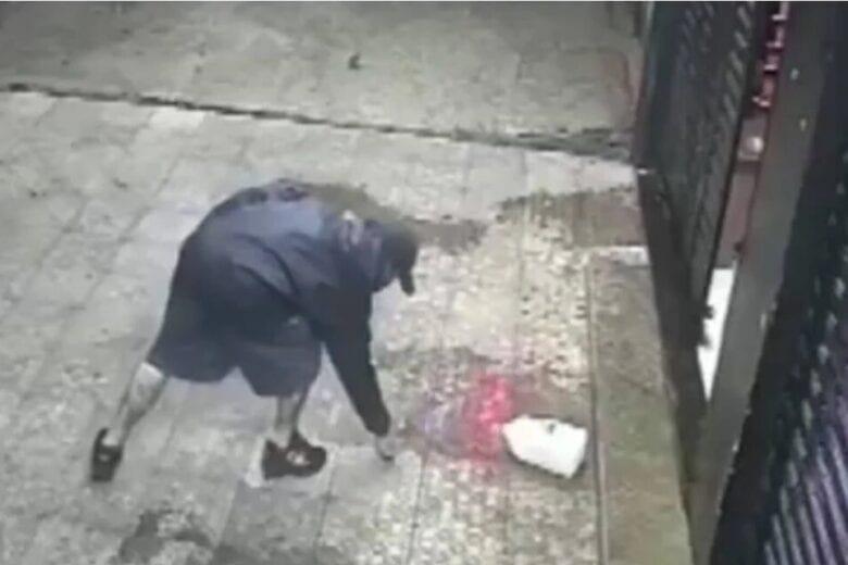 Homem não consegue bebida 'fiado' e coloca fogo em loja; veja o vídeo