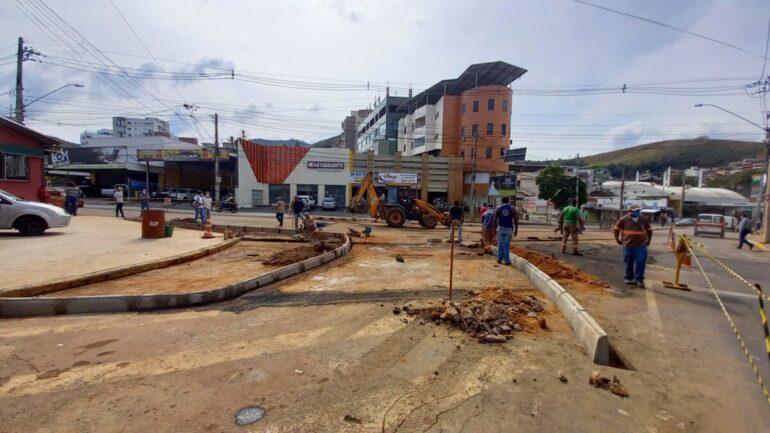 Obras de melhoria no trânsito prosseguem em João Monlevade