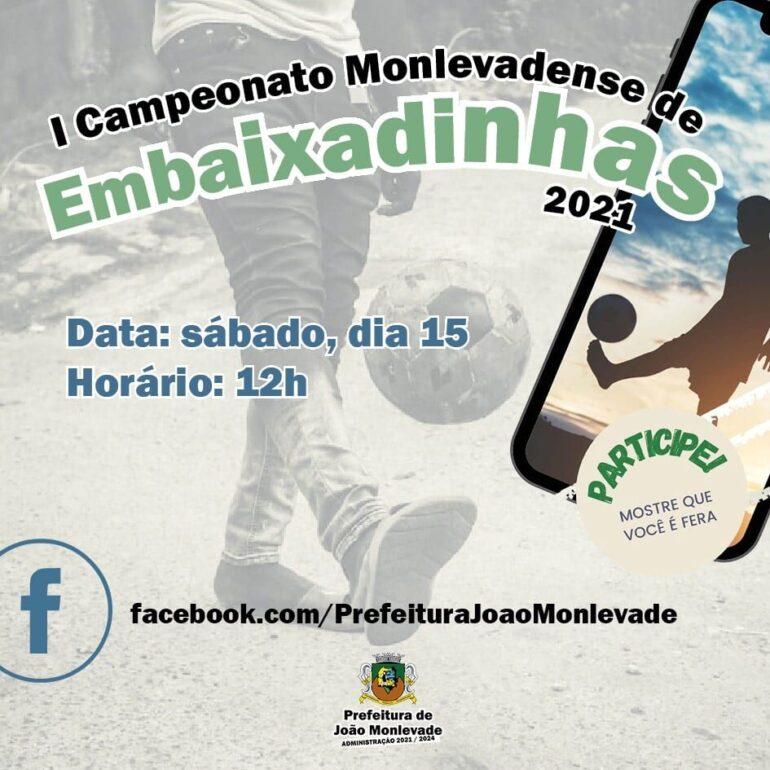Campeonato Monlevadense de Embaixadinhas será neste sábado e terá transmissão online