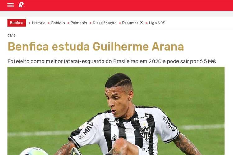 Atlético: Arana entra na mira do Benfica, diz jornal de Portugal