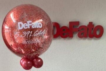 DeFato sorteia prêmios para comemorar os 5,3 milhões de acessos
