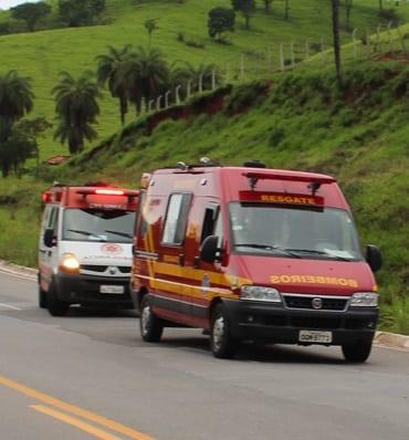 Motociclista é socorrido em estado grave após acidente em Santa Maria