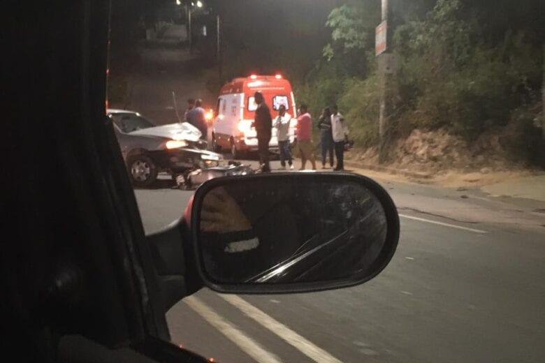 Acidente deixa motociclista ferido no bairro Machado em Itabira