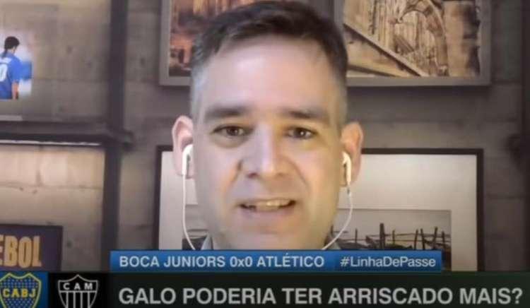 'Preocupa a postura do Atlético', diz Bertozzi, após empate com o Boca