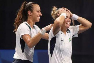 Olímpiada: tenistas Luisa Stefani e Laura Pigossi faturam improvável bronze