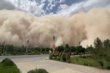 Cidade chinesa é engolida por tempestade de areia; confira o vídeo