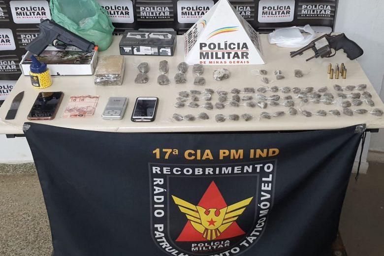 Após fuga, Polícia Militar apreende grande quantidade de drogas em Monlevade