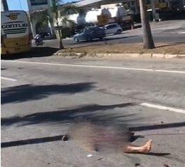 Ciclista morre atropelado por caminhão na BR-381