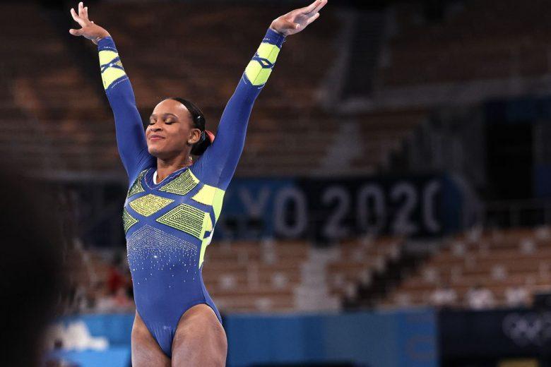 Rebeca Andrade leva medalha de ouro no salto e faz história nos Jogos de Tóquio