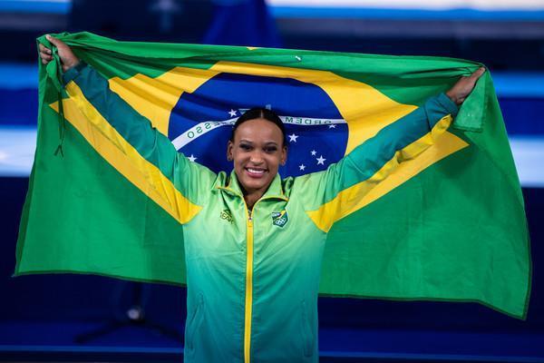 Rebeca Andrade será porta-bandeira do Brasil no encerramento das Olímpiadas