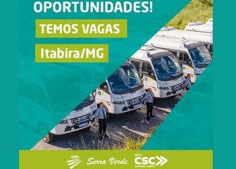Serra Verde oferece vagas de emprego em Itabira. Saiba mais!