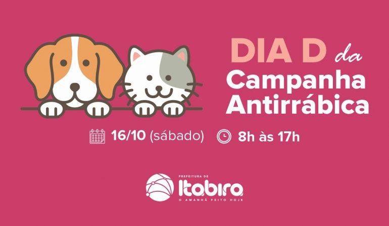 Dia D da campanha de vacinação antirrábica acontece neste sábado