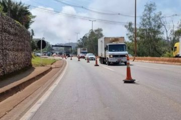 Anel Rodoviário: construção de área de escape fecha via parcialmente